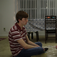 """Logan Beveridge as """"Danny"""" and Kevin Foster as """"Morgan"""" in Essence, written and produced by W. Trent Welstead."""