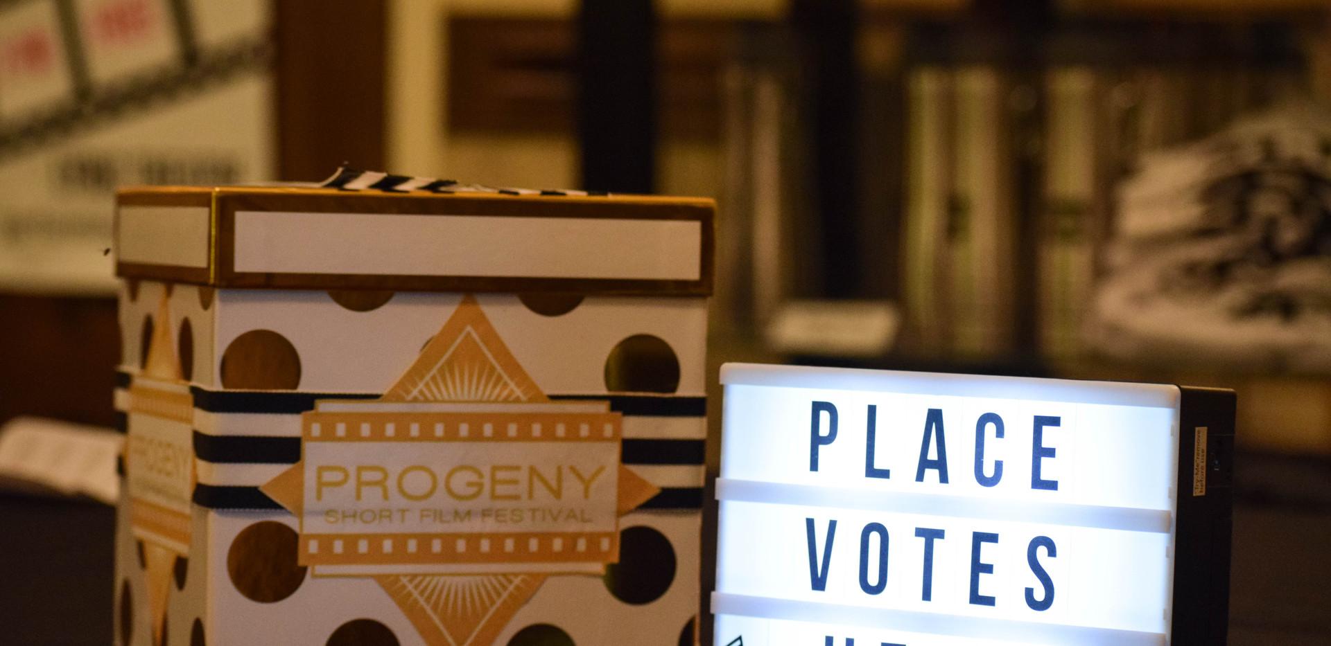 2018 Progeny Short Film Festival Voting Station.