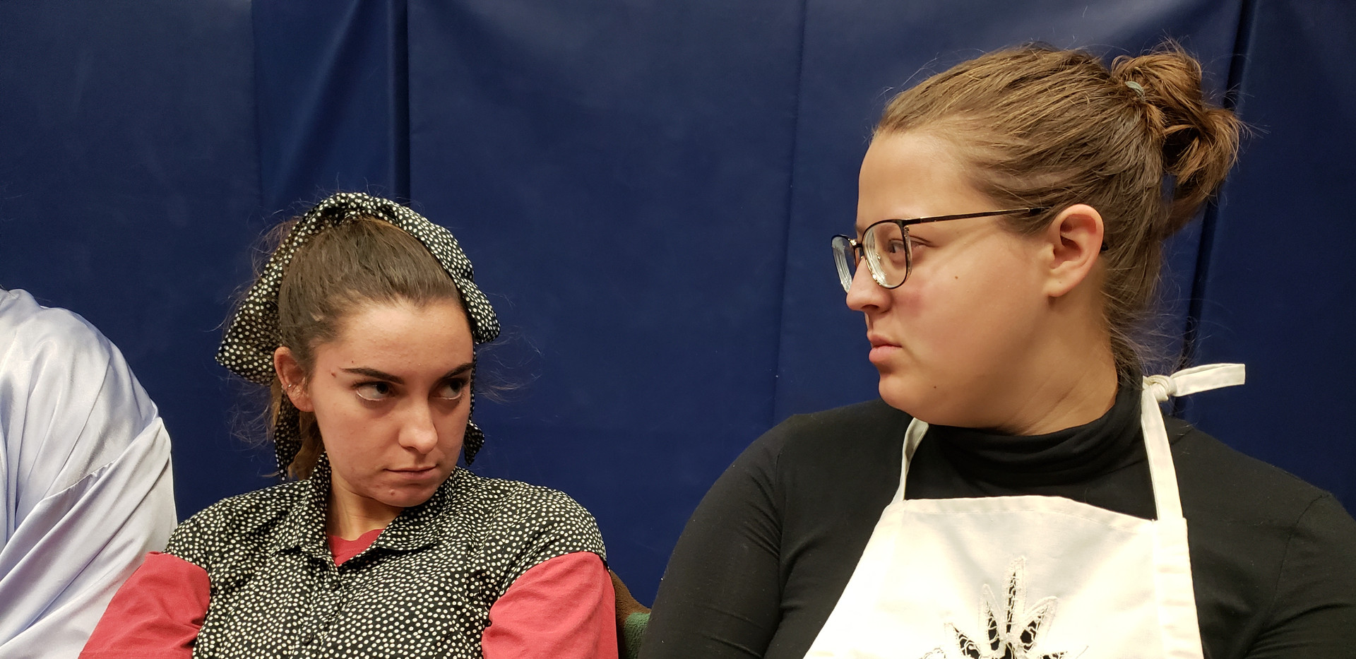 Bitter enemies. Sarah Hogan as Mary and Emma Holland as Agatha in The Children's Hour by Lillian Hellman.
