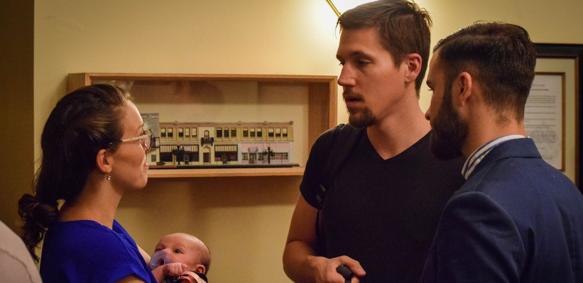Jarrod Anderson (Changing Jane) tends to family matters before the start of the event.