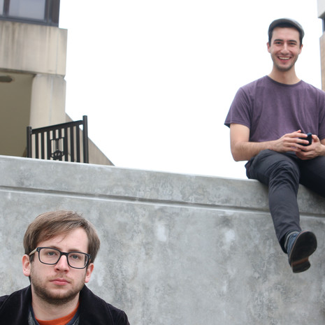 Zach Weinstein (Creep) with a couple friends, performing a screen test for the 'Creep' sequence.