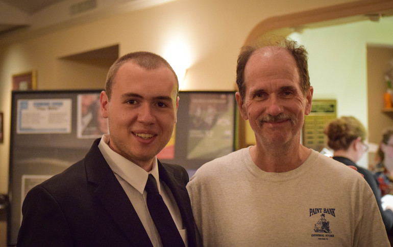 Festival Director, W. Trent Welstead with mentor Dr. Stephen Prince at the 2018 Progeny Short Film Festival.