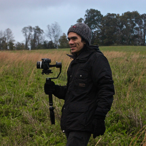 Director of Photography, Grant McMillan assessing the environment, ready for a long day of shooting ahead.