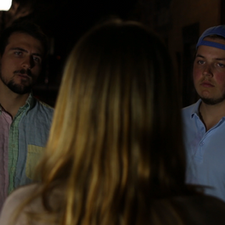 """James Zogran-Werness and Grayson Wimbish as """"Frat Guys"""" in Spark, written and produced by Caitlyn Murray."""