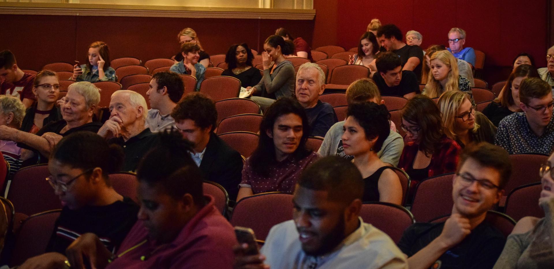Patrons awaiting the start of the 2018 Progeny Short Film Festival