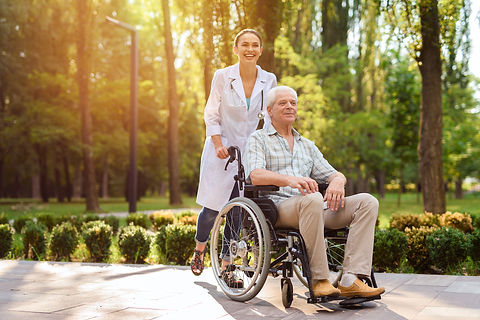 doctor-with-old-man-wheelchair-walking-s