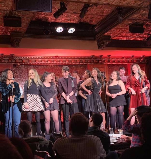On stage at Feinstein's 54 Below
