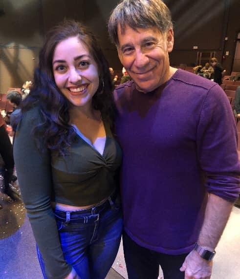 Madeline with Stephen Schwartz after NYU Steinhardt's prodution of Rags