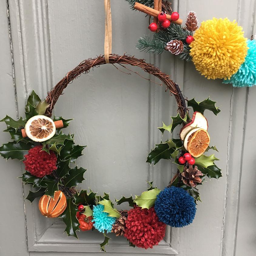 FALKIRK Pom Pom Christmas Wreath Workshop
