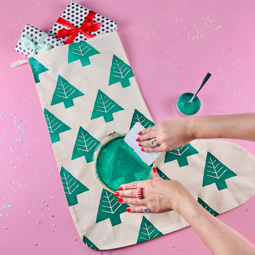 Screen Printed Christmas Stocking - Online Workshop
