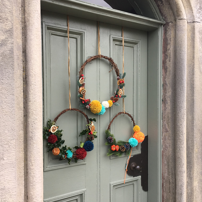 ST ANDREWS Pom Pom Christmas Wreath Workshop