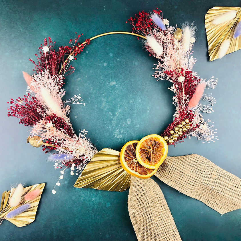 Dried Flower Christmas Wreath - In Person Workshop