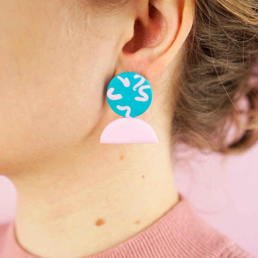 Statement Studs Polymer Clay Earring Online Workshop