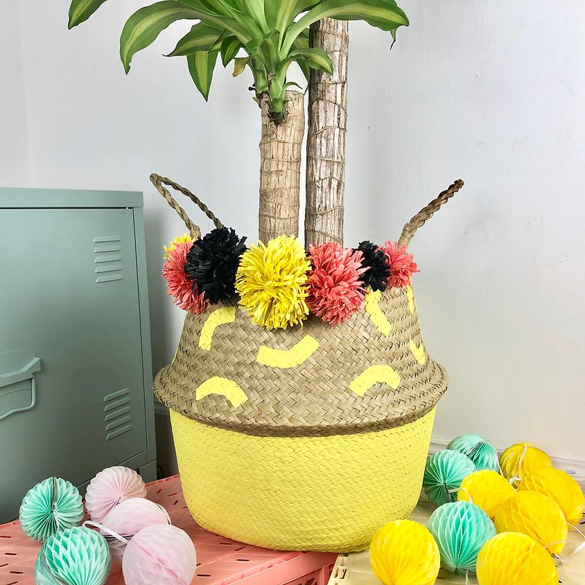 Design & Make A Raffia PomPom Planter