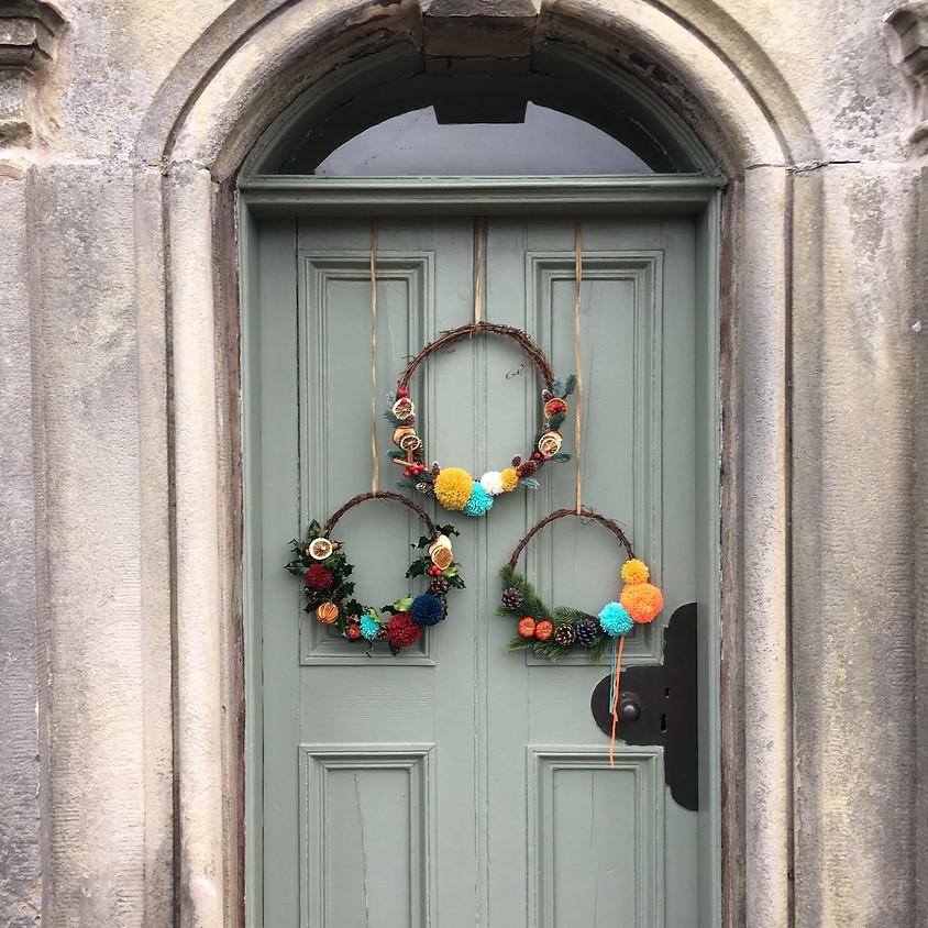(Black Friday Offer) EDINBURGH Pom Pom Christmas Wreath Workshop