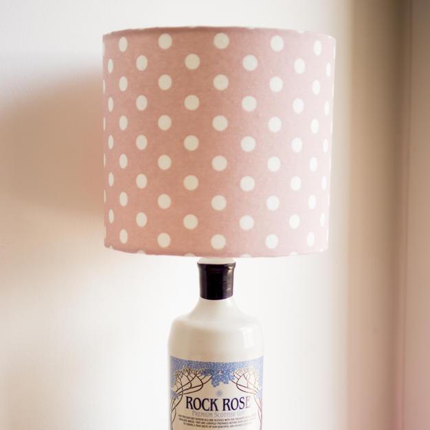 Gin Bottle Lamp & Shade