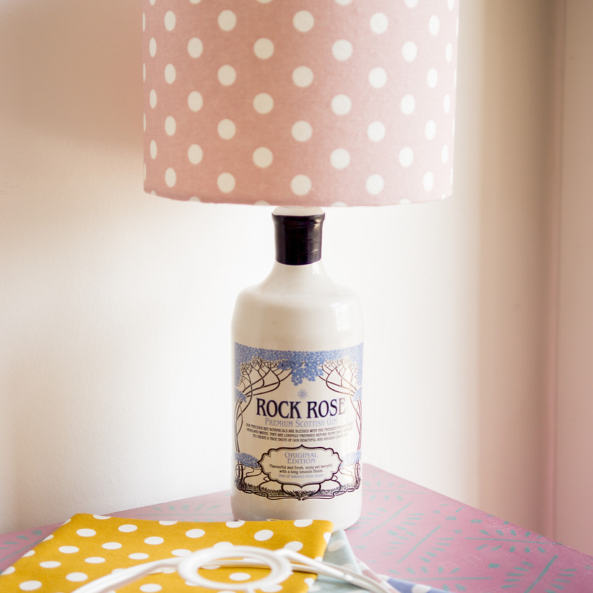 Make Your Own Gin Bottle Lamp & Lampshade
