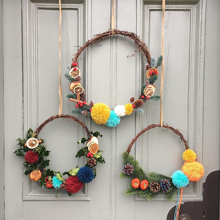 EDINBURGH Pom Pom Christmas Wreath Workshop
