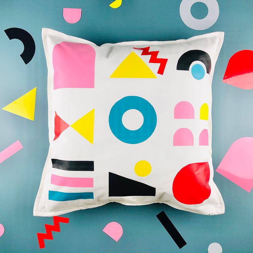 Memphis Design Cushion Cover Workshop