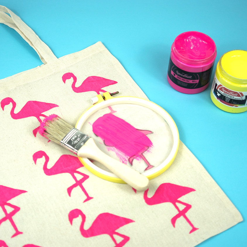 Screen Print A Tote Bag With An Embroidery Hoop ONLINE WORKSHOP