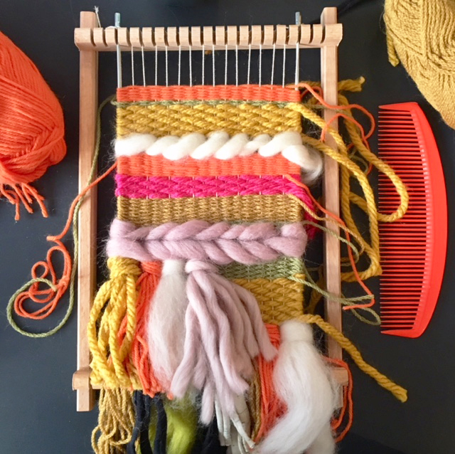 Mini Loom Hand Weaving