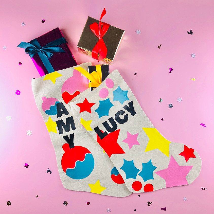Personalised Collaged Christmas Stocking - Online Workshop