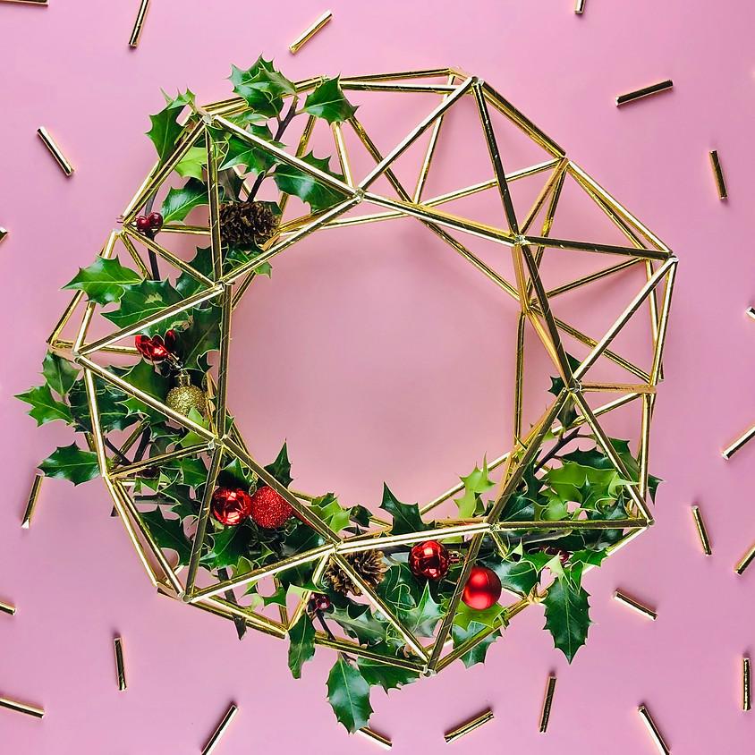 Himmeli Christmas Wreath - Online Workshop