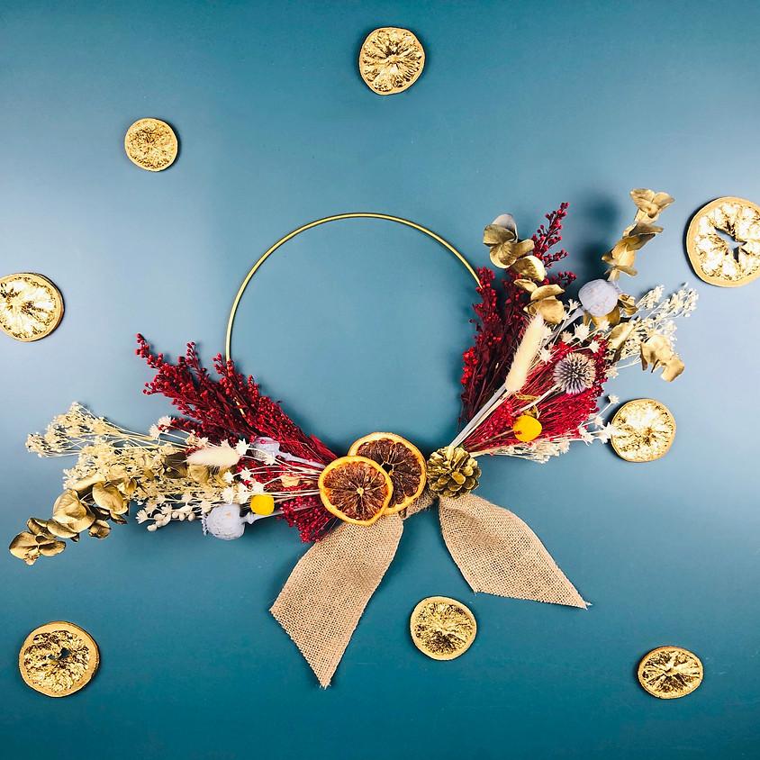 Dried Flower Christmas Wreath - Online Workshop