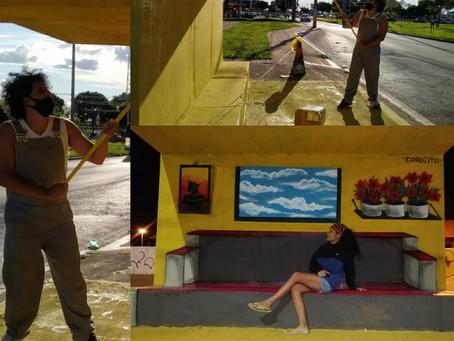 Foco no talento! Projeto Cores que transformam vidas revitaliza paradas de ônibus em Santa Maria DF