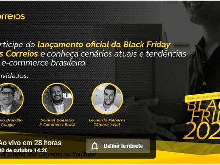 Foco nas lives! Jornada Black Friday – Lives dos Correios! Dicas da principal data do e-comerce
