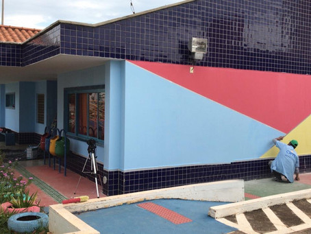 "Foco na solidariedade! projeto ""Cores que transformam vidas"" revitaliza creche pública no DF"