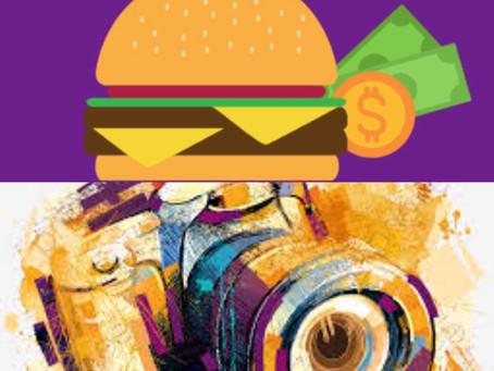 """Foco na capacitação! Cursos de """"Hambúrguer Artesanal Vegetariano"""" e """"Fotografia"""" On line."""