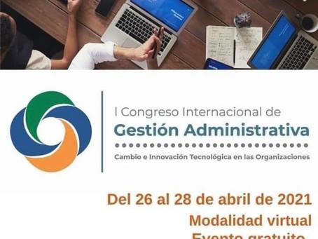 Foco nos eventos! Congresso Internacional de Gestão Administrativa - UTN -Costa Rica.