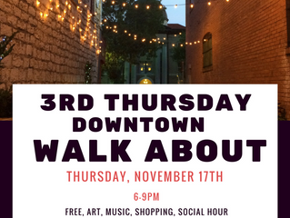 New Downtown Walkabout This Thurs.