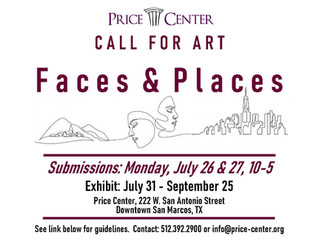 FACES & PLACES NEXT CALL FOR ART AT PRICE CENTER