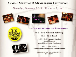 Annual Meeting Luncheon Set For Feb 22