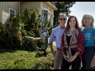Mermaid at Price Center Honors Flora of San Marcos River and Land