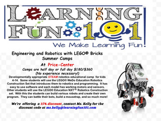LEGO ROBOTICS BOOT CAMP COMING TO CENTER IN AUGUST