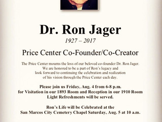 Dr. Jager's Life to be Celebrated at the Center this Friday Night, Burial Saturday