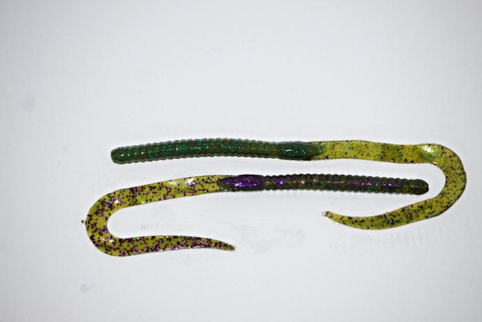 """""""Purplegrass"""" 10.5"""" Ribbon Tail Worm"""