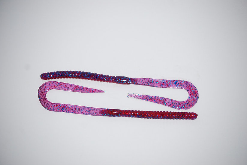 """Fire & Ice"" 10.5"" Ribbon Tail Worm"