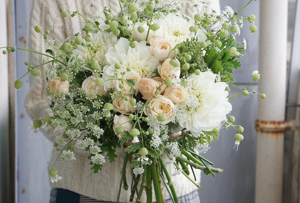 ホワイトブーケ(fresh flowers)Mサイズ