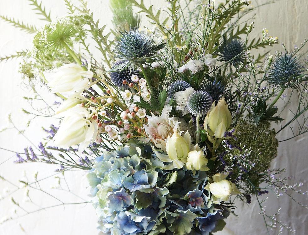 ブルーブーケ(fresh flower)Sサイズ