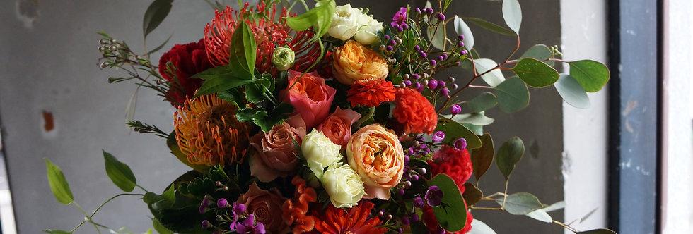 オレンジブーケ(fresh flowers)Mサイズ