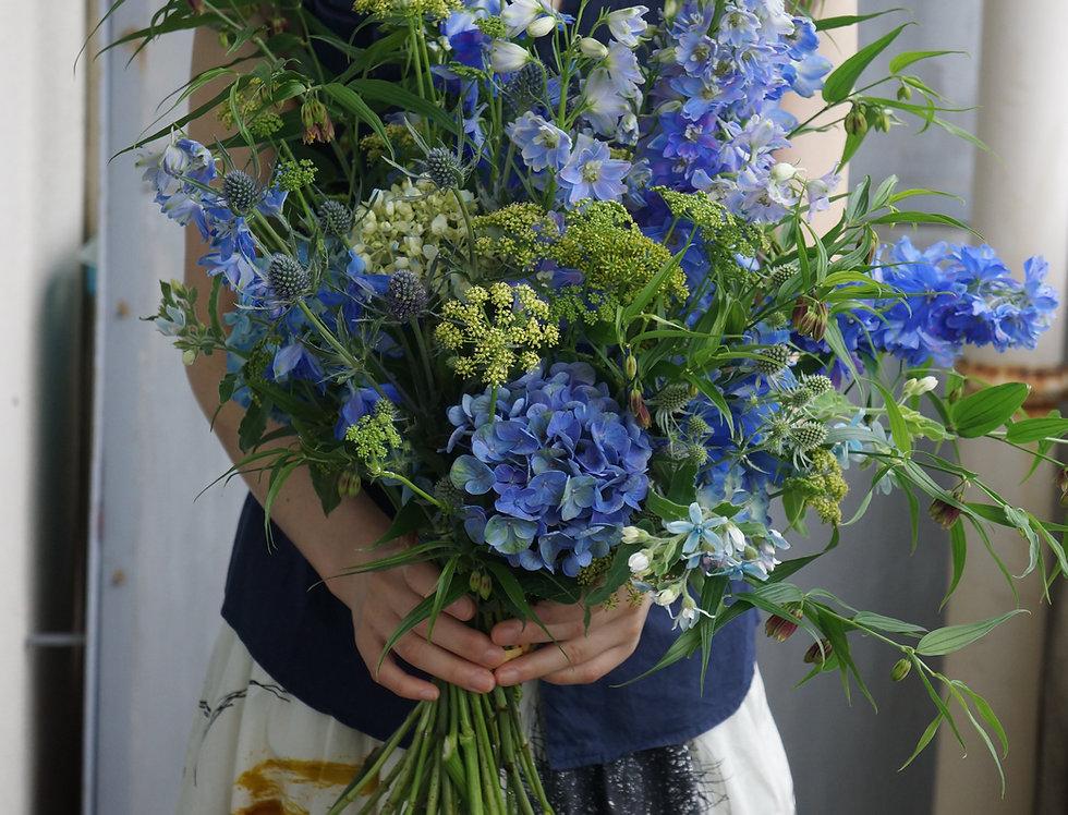 ブルーブーケ(fresh flowers)Mサイズ