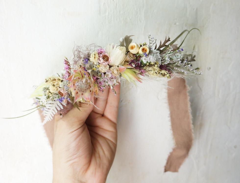 ドライフラワーお子様用花冠