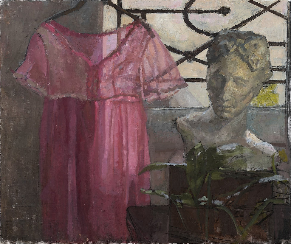 the pink dress(after lopez) 80-60cm 2020