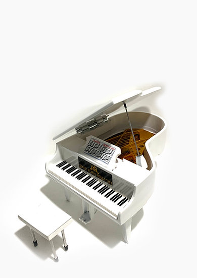 Grand Piano Miniature - White