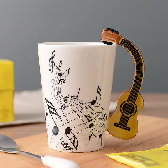 Classic Guitar Mug Music Notes 400ml