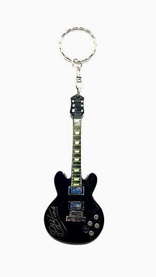 BB King The Blues Legend Handcrafted Guitar Keychain
